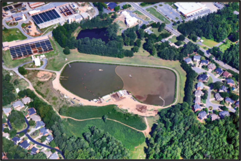 The Quarles Raw Water Reservoir in Cobb County, GA