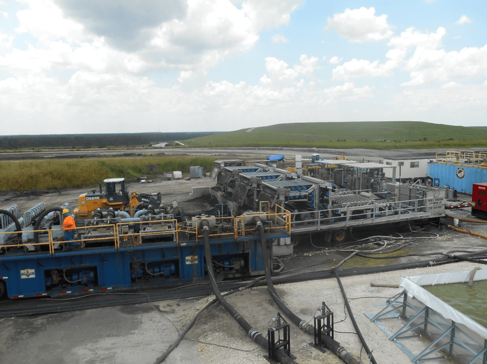 Closed Loop System for Coal Combustion Residual Dredging and
